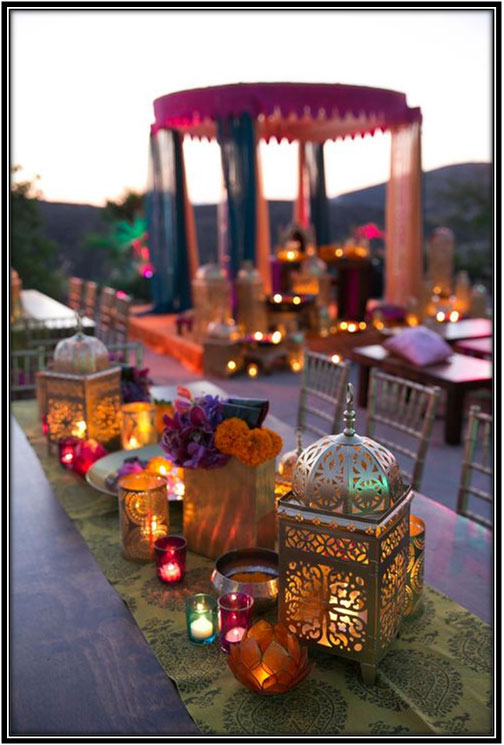 Moroccan Lanterns Perfect For Sufi Theme Sangeet Evening
