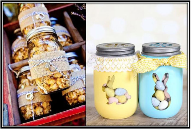 Mason Jars With Sweets