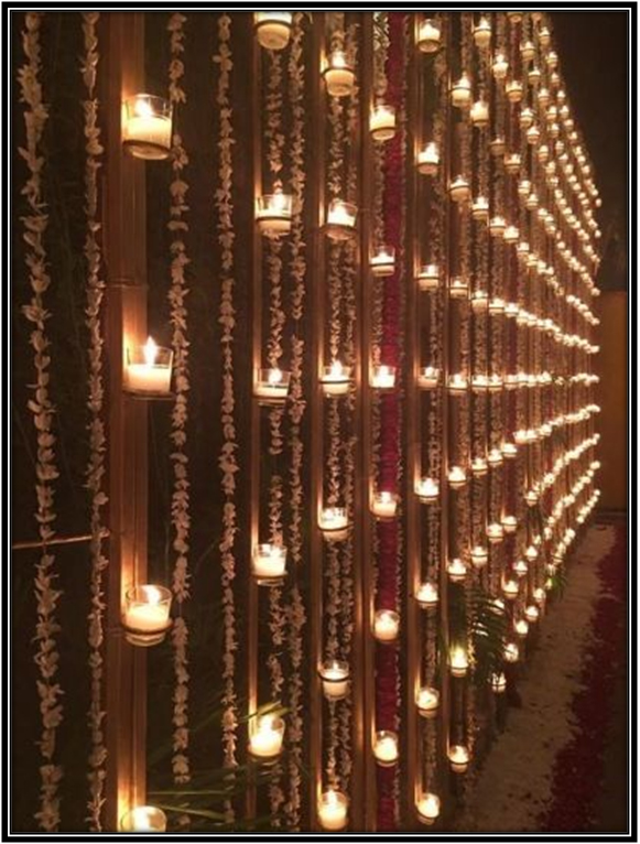 Mogra Strings With Candles